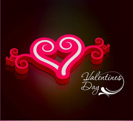 3d valentines day background design element. Vector