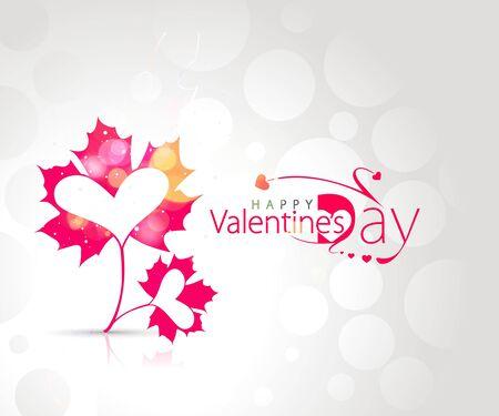 Abstract valentines day leaf design element, illustration. Vector