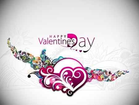 Abstract valentines day background design element  Illustration