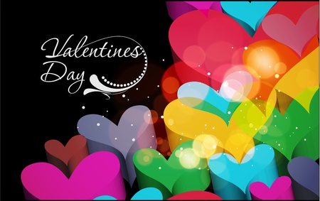 Abstract valentines day background design element