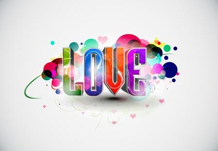 Abstract 3d love design element, illustration. Stock Illustratie