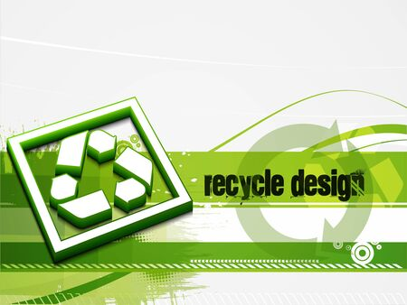 baner: abstract recycle green and white baner background.