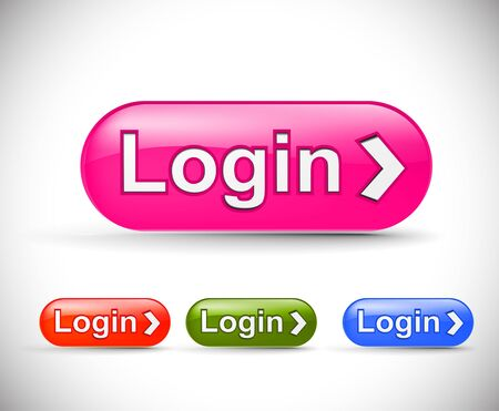web login icon, includes four versions for your web icon. Stock Vector - 8958263