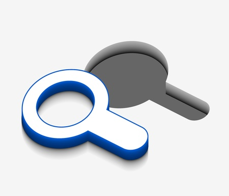 3d vector Search icon design with isolated on white. Stock Vector - 8958191