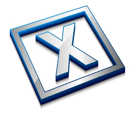 3d vector web design alphabet symbol - X Stock Vector - 8958182