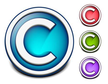 design design elemnt: Glossy letter of three colorful alphabet design elemnt.