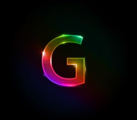 design design elemnt: One letter of colorful alphabet design elemnt. Illustration