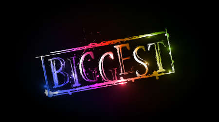 biggest: Biggest grunge colorful text with used text design, vector illustration. Illustration