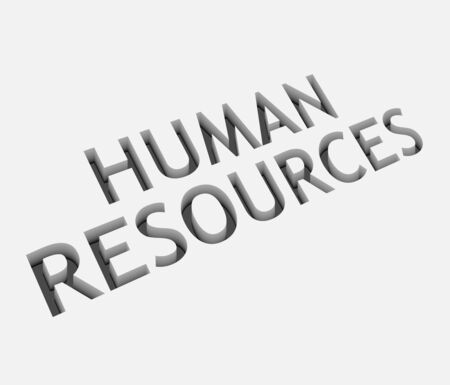 manpower: 3d vector human resources text design with isolated on white.  Illustration