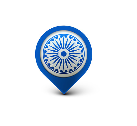 glossy icon: 3d glossy indian flag symbol vector element design.