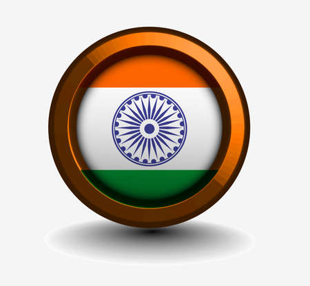 3d glossy indian flag symbol vector element design. Vector
