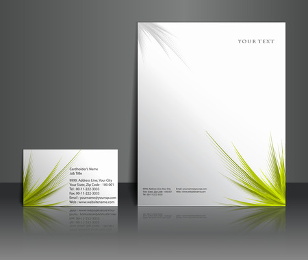 stationery: Business style templates for your project design, Vector illustration.