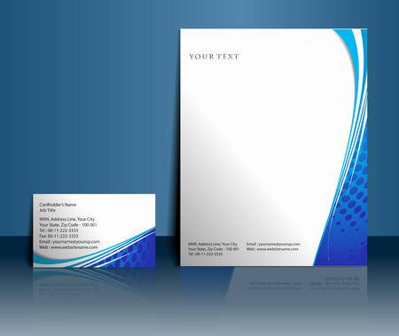 membrete: Plantillas de estilo de negocios para el diseño del proyecto, ilustración vectorial.