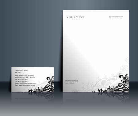 visiting: Business style templates for your project design, Vector illustration.