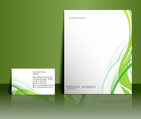 identification card: Business style templates for your project design, Vector illustration.