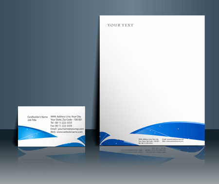 letter memo: Business style templates for your project design, Vector illustration.