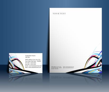 hojas membretadas: Plantillas de estilo de negocios para el dise�o del proyecto, ilustraci�n vectorial.