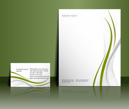 papier en t�te: Mod�les de style Business pour la conception de votre projet, illustration vectorielle.