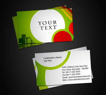 vector business card set, elements for design.  Stock Vector - 8958412