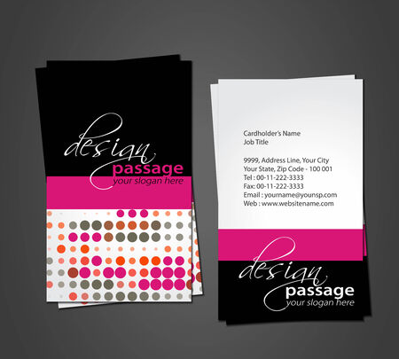 vector business card set, elements for design. Stock Vector - 8970760