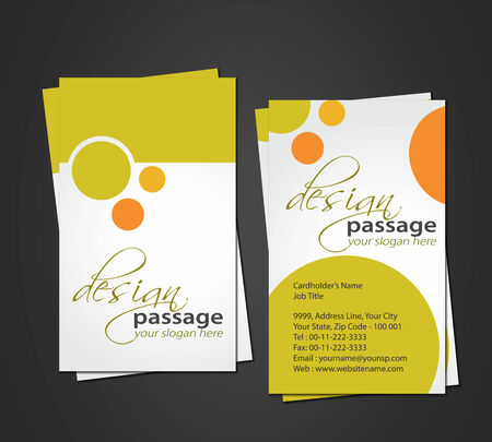 vector business card set, elements for design. Stock Vector - 8970751