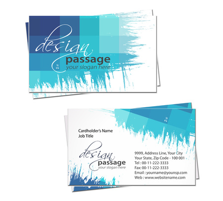 conjunto de tarjeta de visita de vector, elementos de diseño.  Ilustración de vector