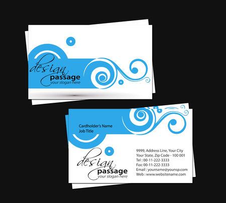 vector business card set, elements for design.  Vector