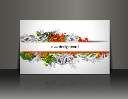 Beautiful gift card design element, vector illustration.  Vector