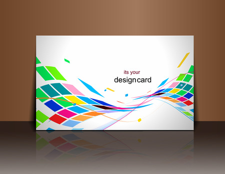 business event: Beautiful gift card design element, vector illustration.  Illustration