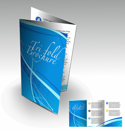 evento corporativo: Tri-pliegue folleto dise�o elemenr, vector illustartion.