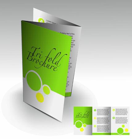 magazine layout design template: Tri-fold brochure design elemenr, vector illustartion. Illustration