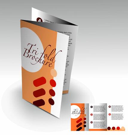 Tri-fold brochure design elemenr, vector illustartion. Stock Vector - 9027905