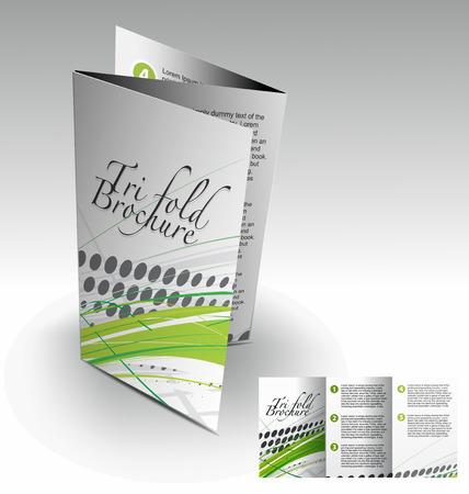 Tri-fold brochure design elemenr, vector illustartion. Stock Vector - 9027920