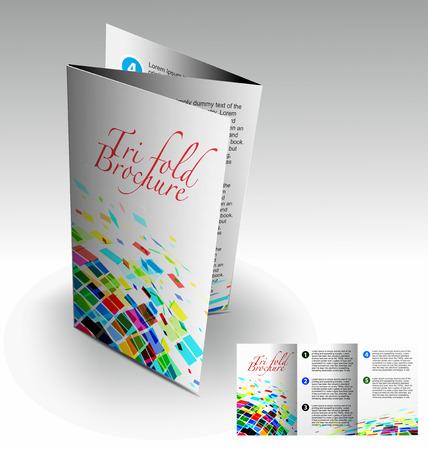 Tri-fold brochure design elemenr, vector illustartion. Stock Vector - 9027925