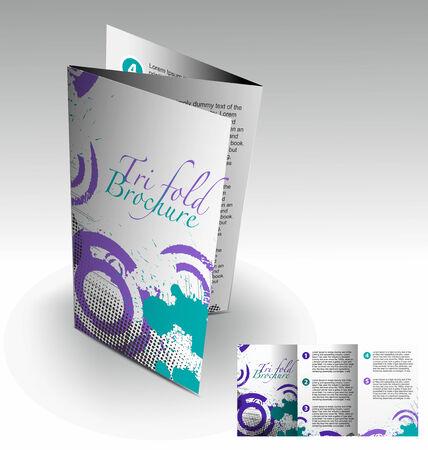 Tri-fold brochure design elemenr, vector illustartion. Stock Vector - 9027932