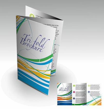 Tri-fold brochure design elemenr, vector illustartion. Stock Vector - 9027912