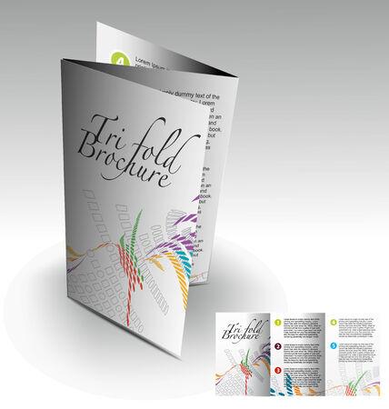 Tri-fold brochure design elemenr, vector illustartion. Stock Vector - 9027928