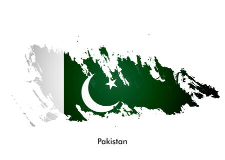 pakistan flag: Pakistan flag with grunge design, vector illustration  Illustration