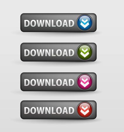web download icon, includes four versions for your web icon.  Vector