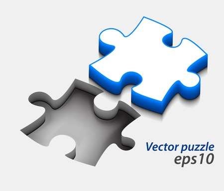 vector glossy puzzle web icon design element.  Vector