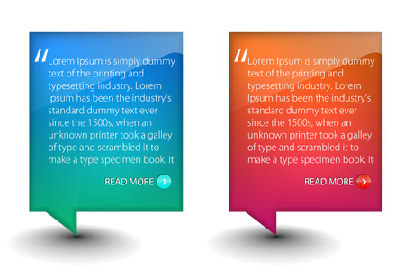 text messaging: web banner elements for web templete design used.  Illustration