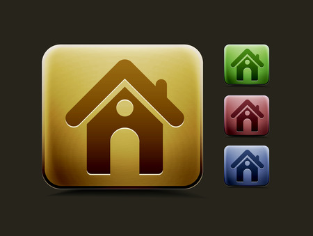 rent index: vector home icon set, includes four color versions for your web colour design used.