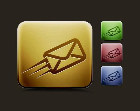 email us: Vector e-mail icon set, comprende quattro versioni di colore per il vostro web design di colore utilizzato. Vettoriali