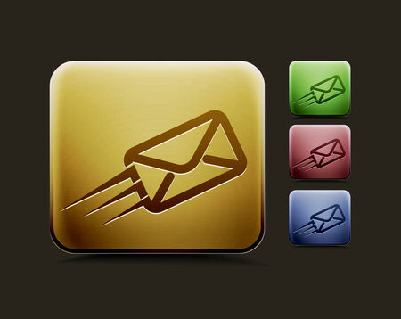 mail us: vector email icon set, includes four color versions for your web colour design used.