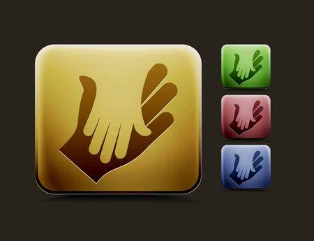 ベクトル取り引きアイコン セットは、使用、web カラー デザインのための 4 つのカラー バージョンが含まれています。