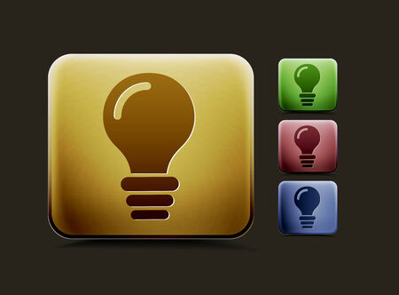 vector idea icon set, includes four color versions for your web colour design used. Vector