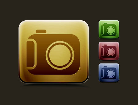 camera icon: vector camera icon set, includes four color versions for your web colour design used. Illustration