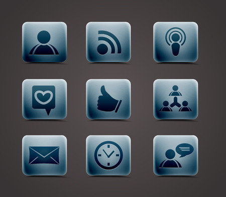 Vector icon set for web applications use. Vector