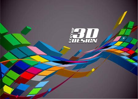 Résumé des antécédents de conception 3d, vector illustration