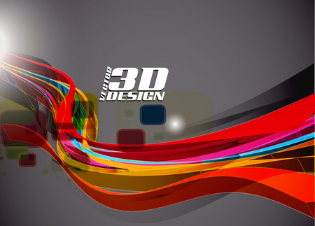 Abstract 3d design background, vector illustration Stock Vector - 9066345